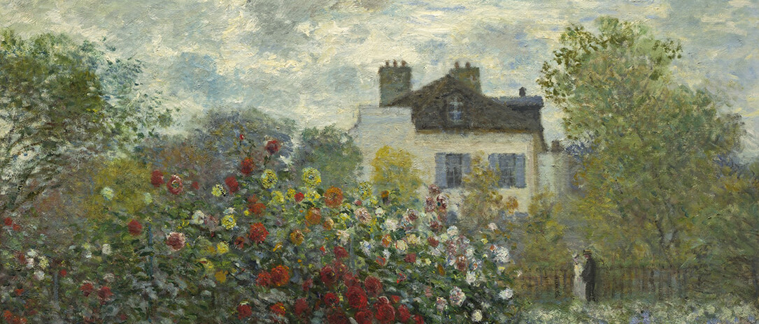 The Artist's Garden In Argenteuil, a painting by Claude Monet, National Gallery of Art. Photograph by Dawn Hudson gratefully adapted with a public domain license.
