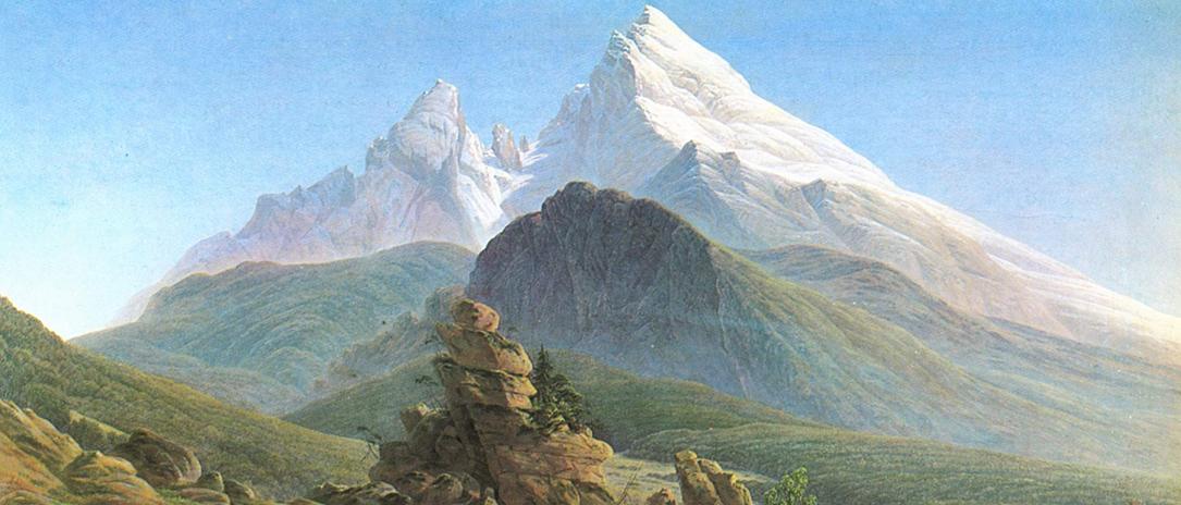 Painting The Watzman, 19th Century, by Caspar David Friedrich. Public Domain. From Wikimedia.