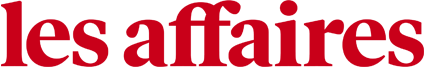 """Logo of """"les affaires"""" in red letters with white background"""