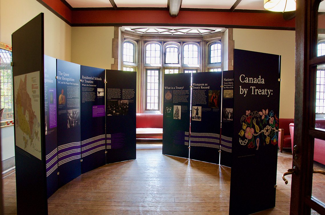 Image of Canada by Treaty Exhibit at Hart House