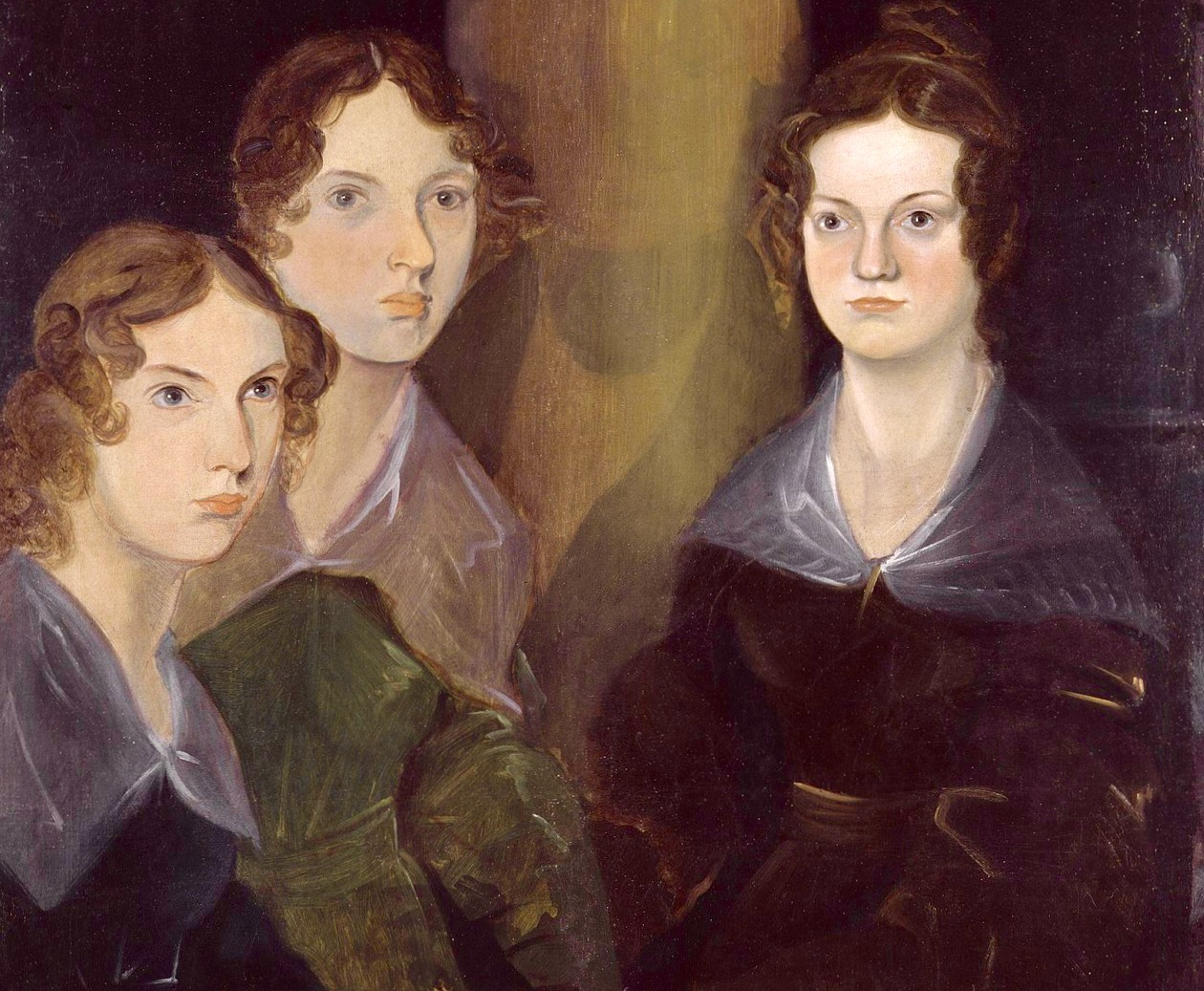 Portrait of Anne, Emily, and Charlotte Bronte