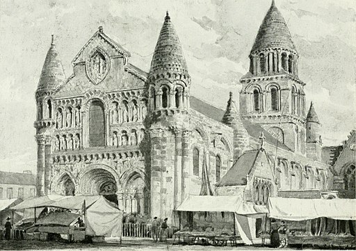 Printed image of Cahors Cathedral