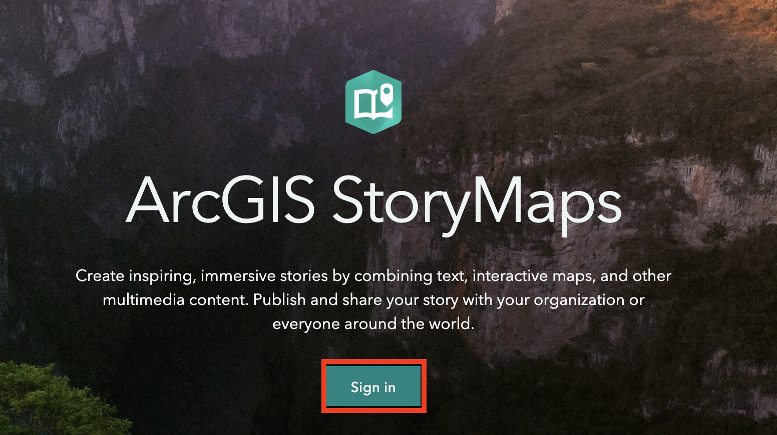 Sign in at StoryMap