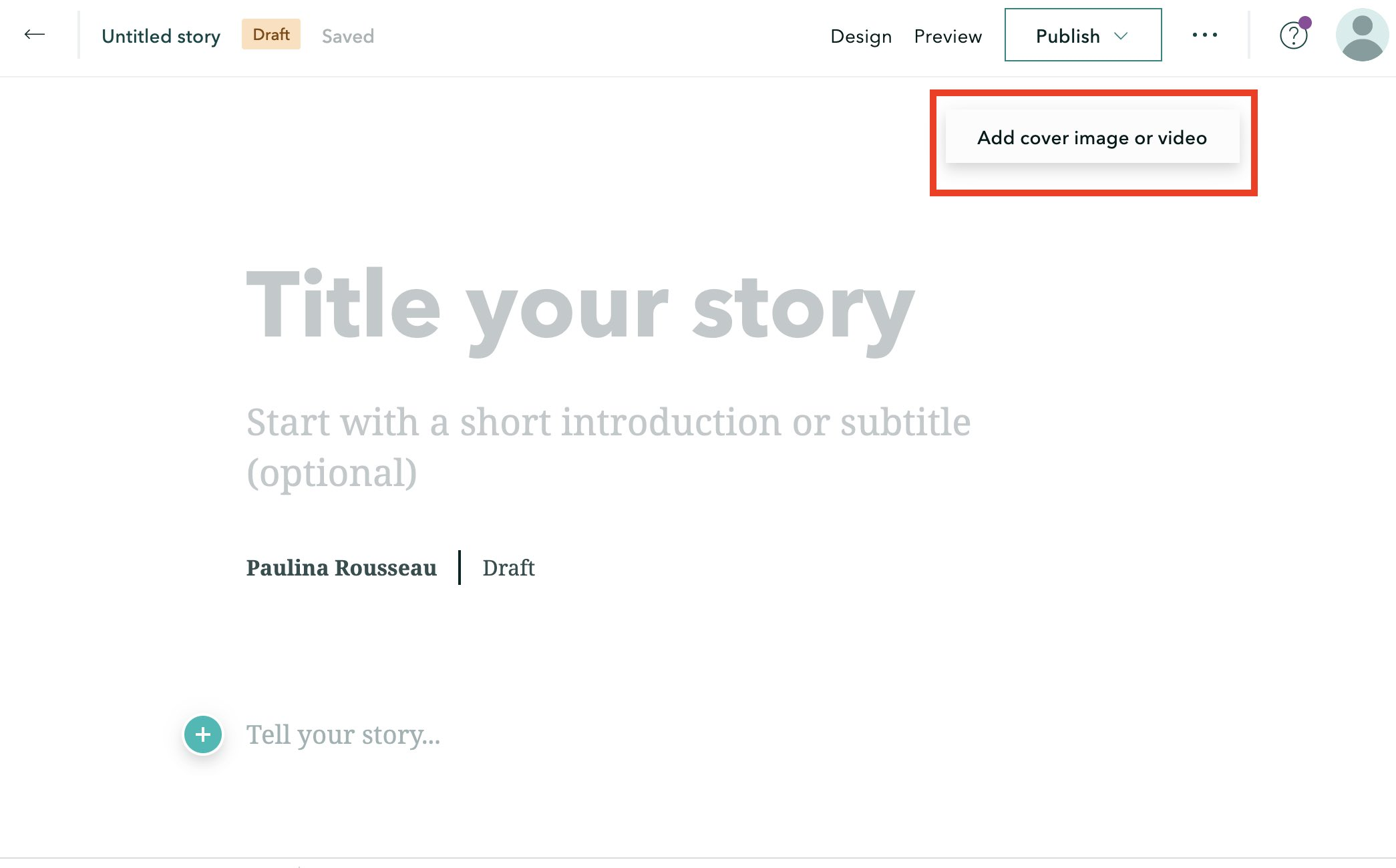 How to add a title and cover photo