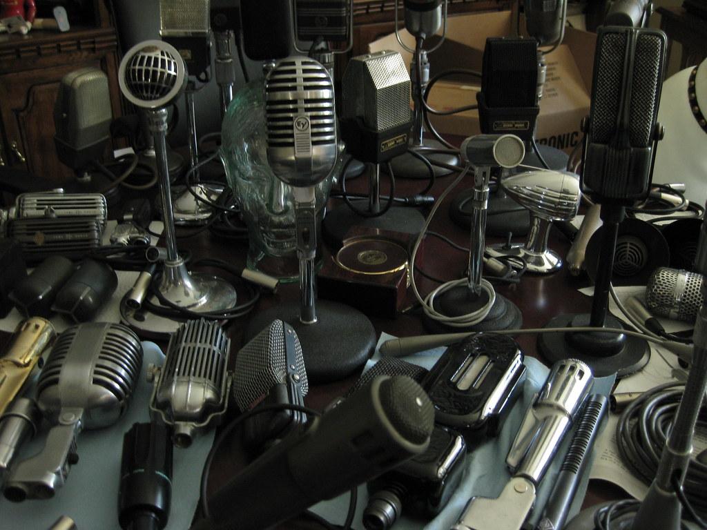 image of microphones