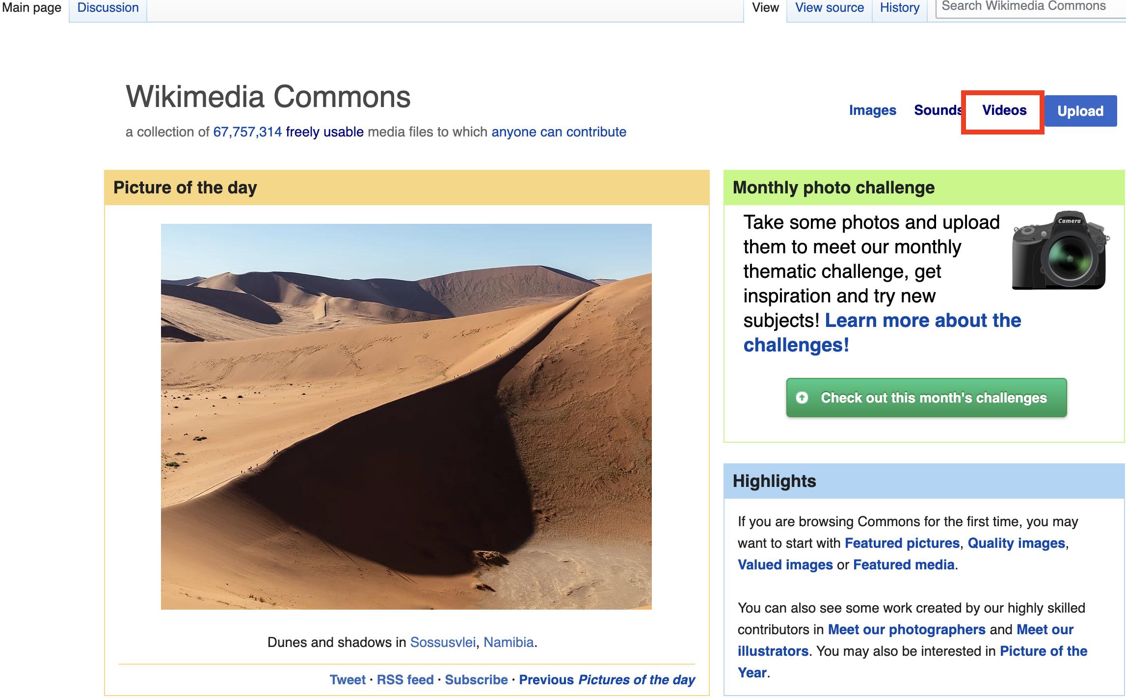 Wikimedia Commons - Videos