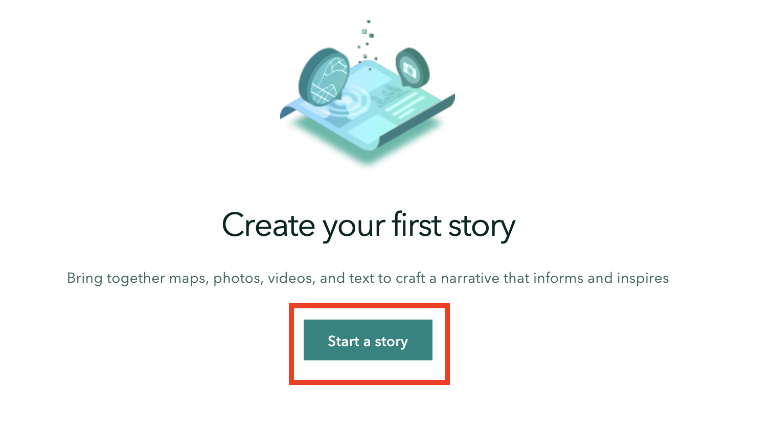 Start your story icon