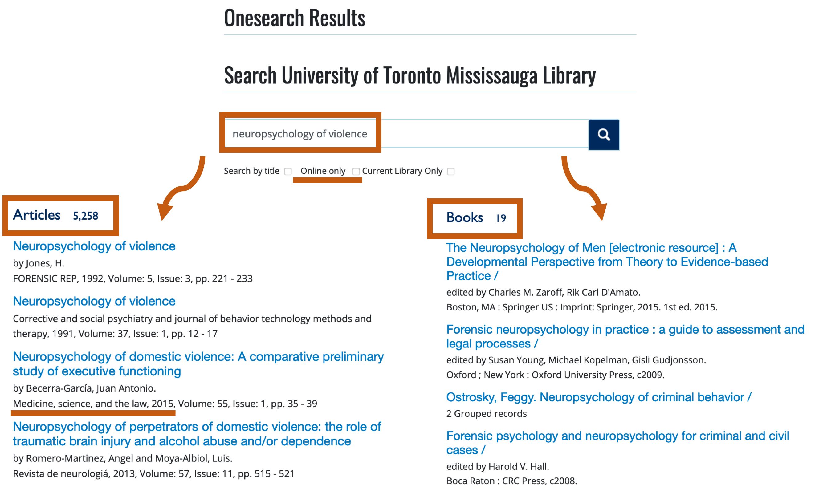 onesearch for books and articles