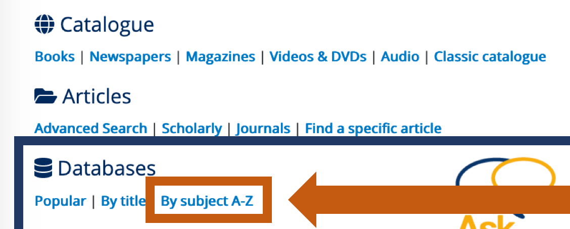 subject A - Z