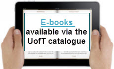 E-Books availiable via the UofT catalogue