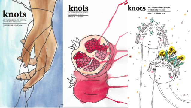 knots disability studies Journal covers for issues 2, 3 and 4