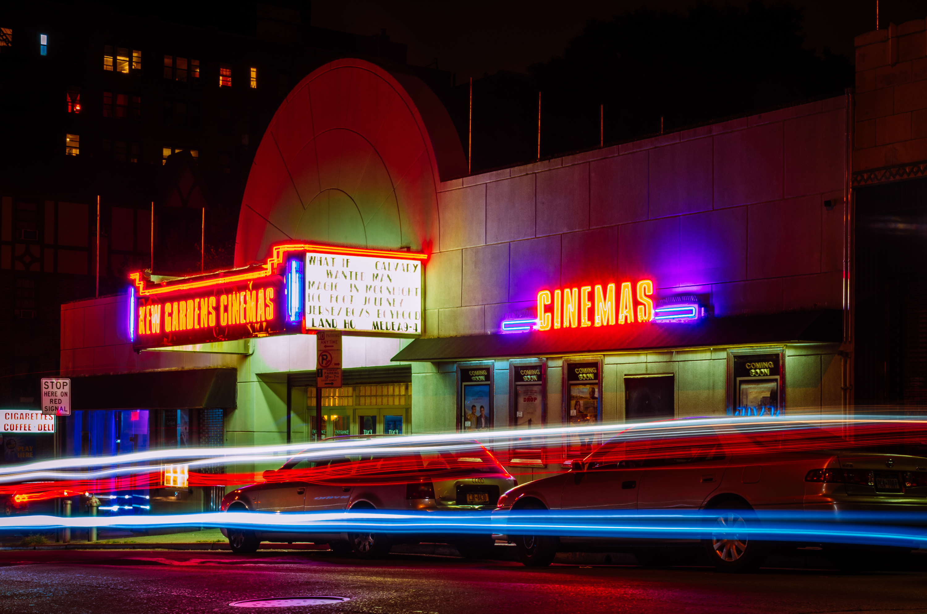 photo of cinema and cars