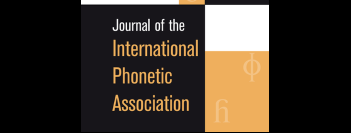 Journal of the International Phonetic Association cover