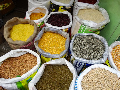 Pulses for Sale in Market - Darjeeling - West Bengal - India