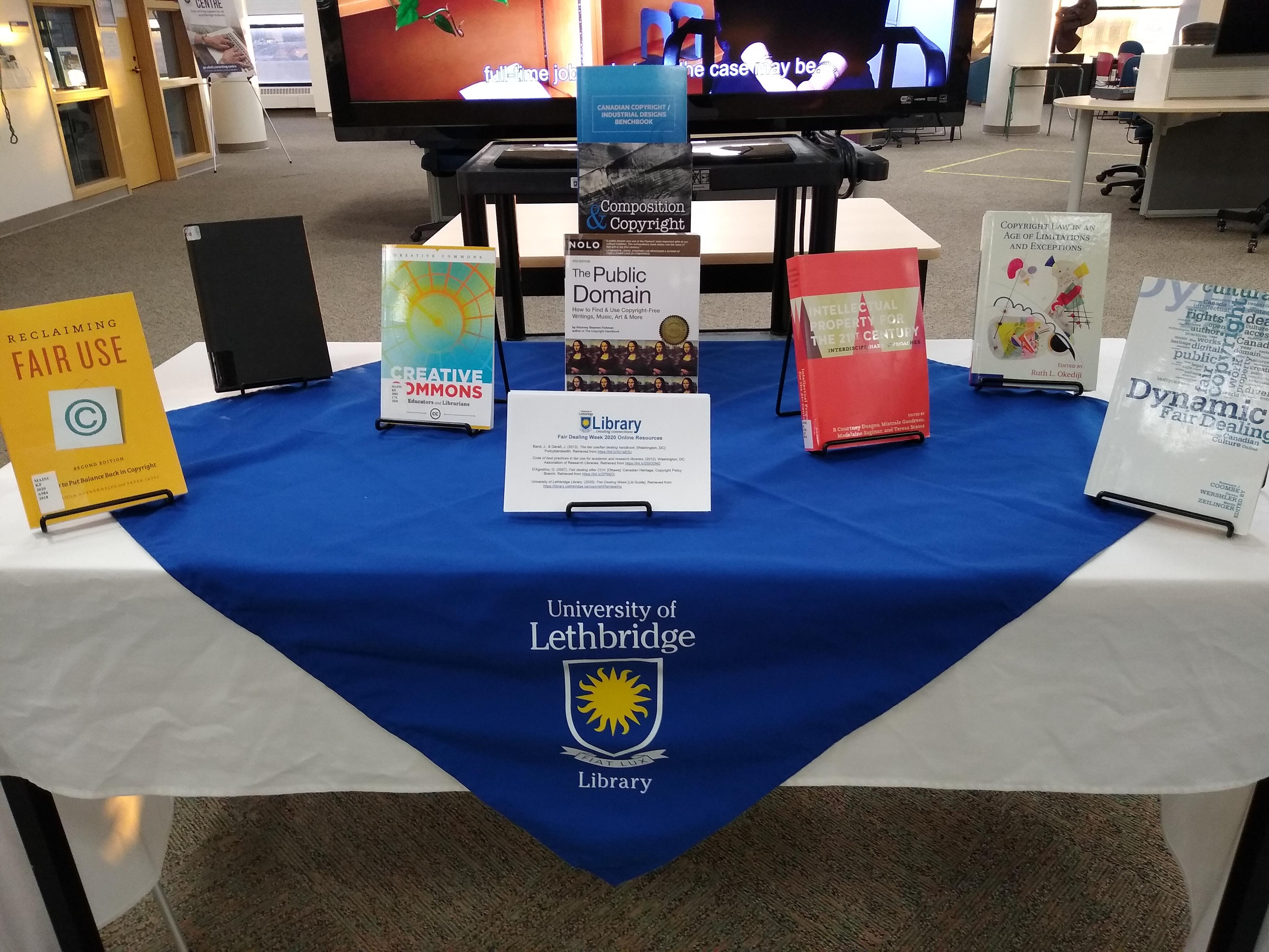 Fair Dealing Week 2020 display - books