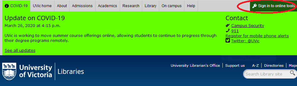 off-campus login