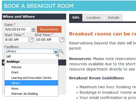 Book a breakout room2