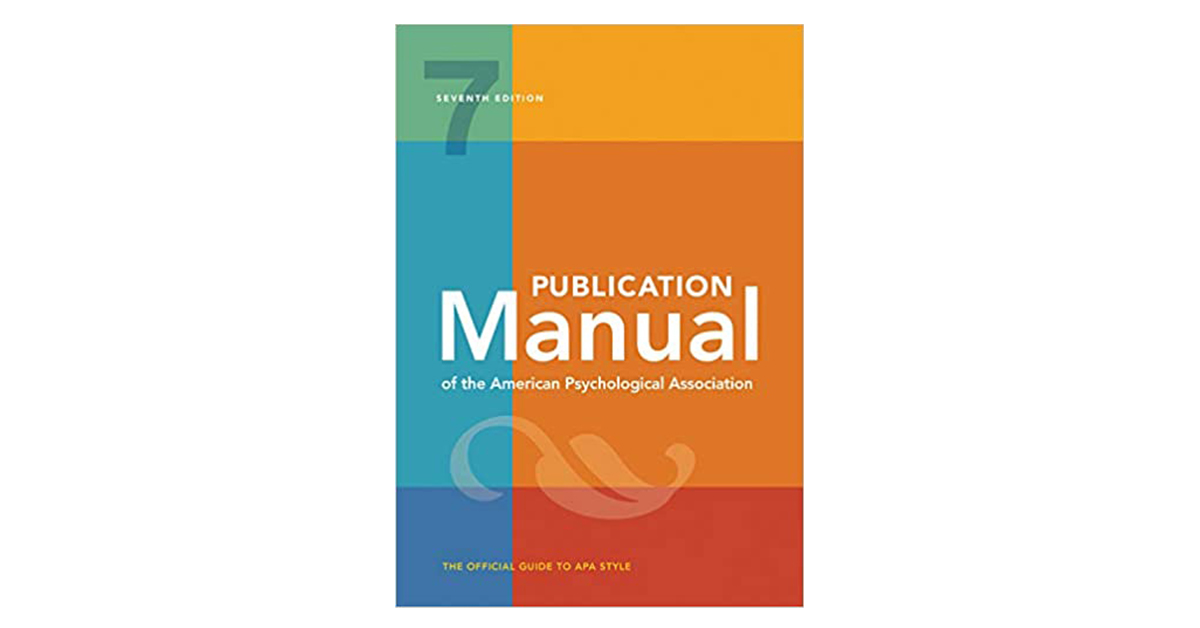 Front cover of the 7th edition APA Style manual