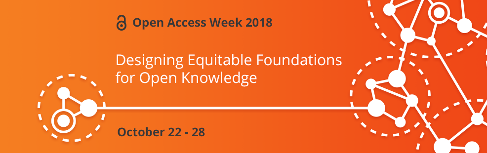 Open Access Week 2018 banner - click for more information