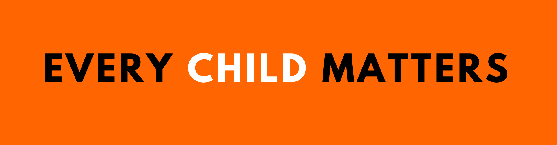 Every Child Matters (text on orange background)