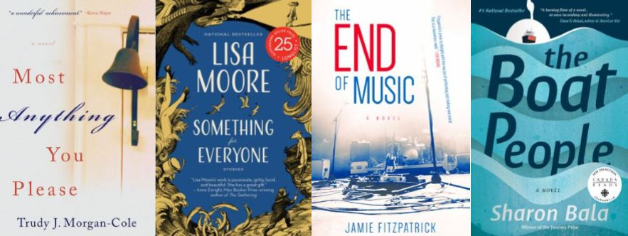 Book covers for NL Reads (from top left): Most Anything You Please, The Boat People, Something For Everyone, The End of Music.
