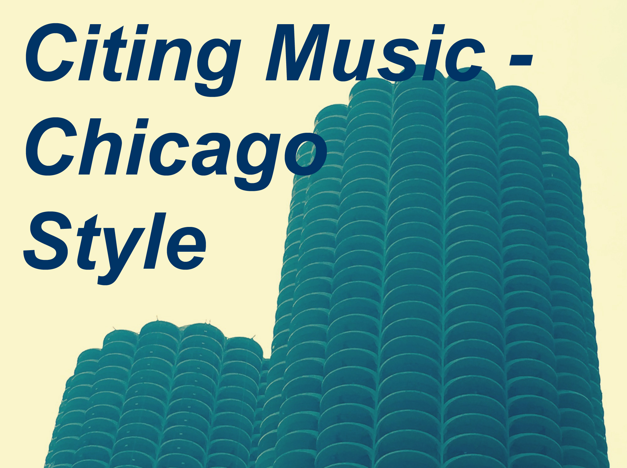 Link to Citing Music - Chicago Style Guide