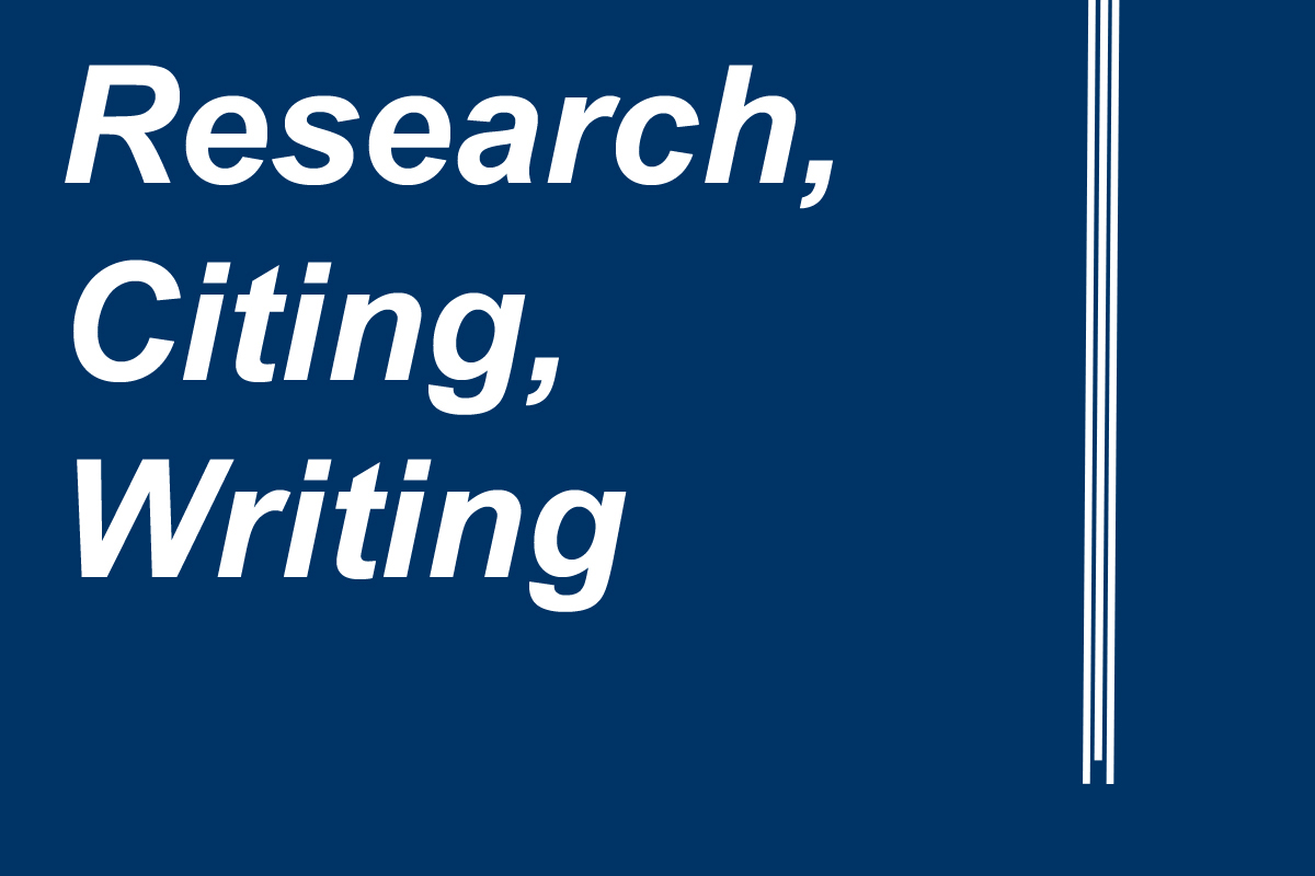 research, citing, writing