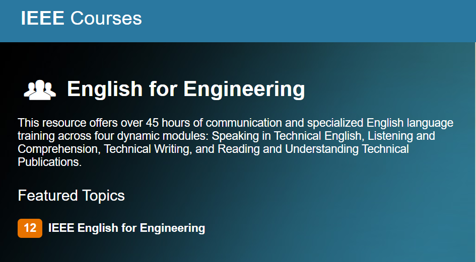 IEEE English for Engineering