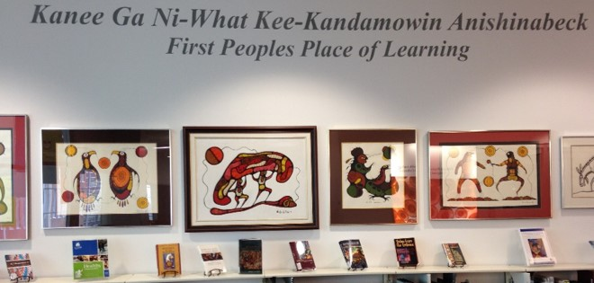 Photo of library area of the Indigenous Health Collection