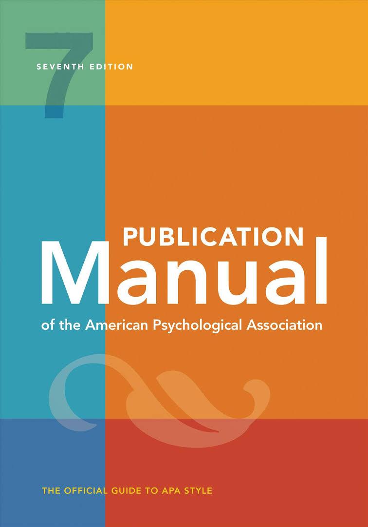 APA Publication Manual, 7th edition (cover image)