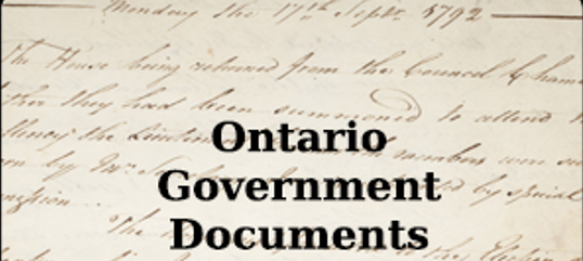 Ontario Government Documents logo