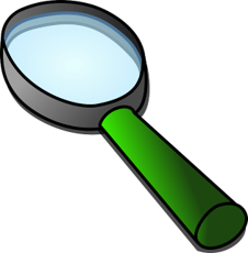 clipart of magnifying glass