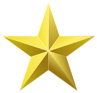 clipart of star badge