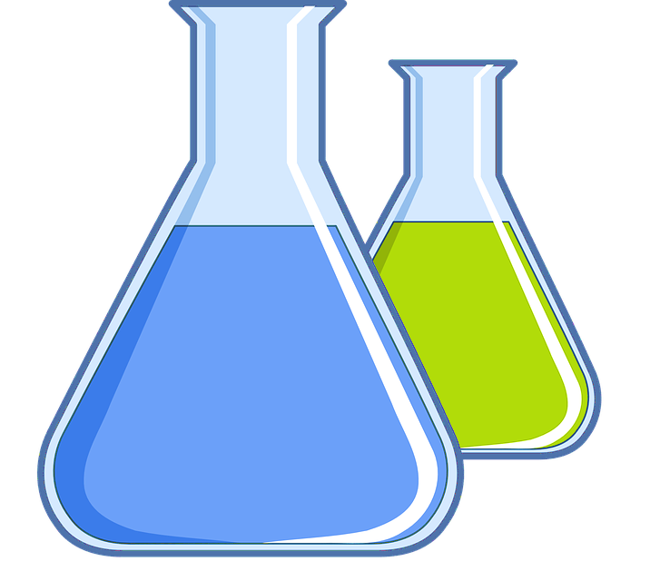 clipart of two beakers