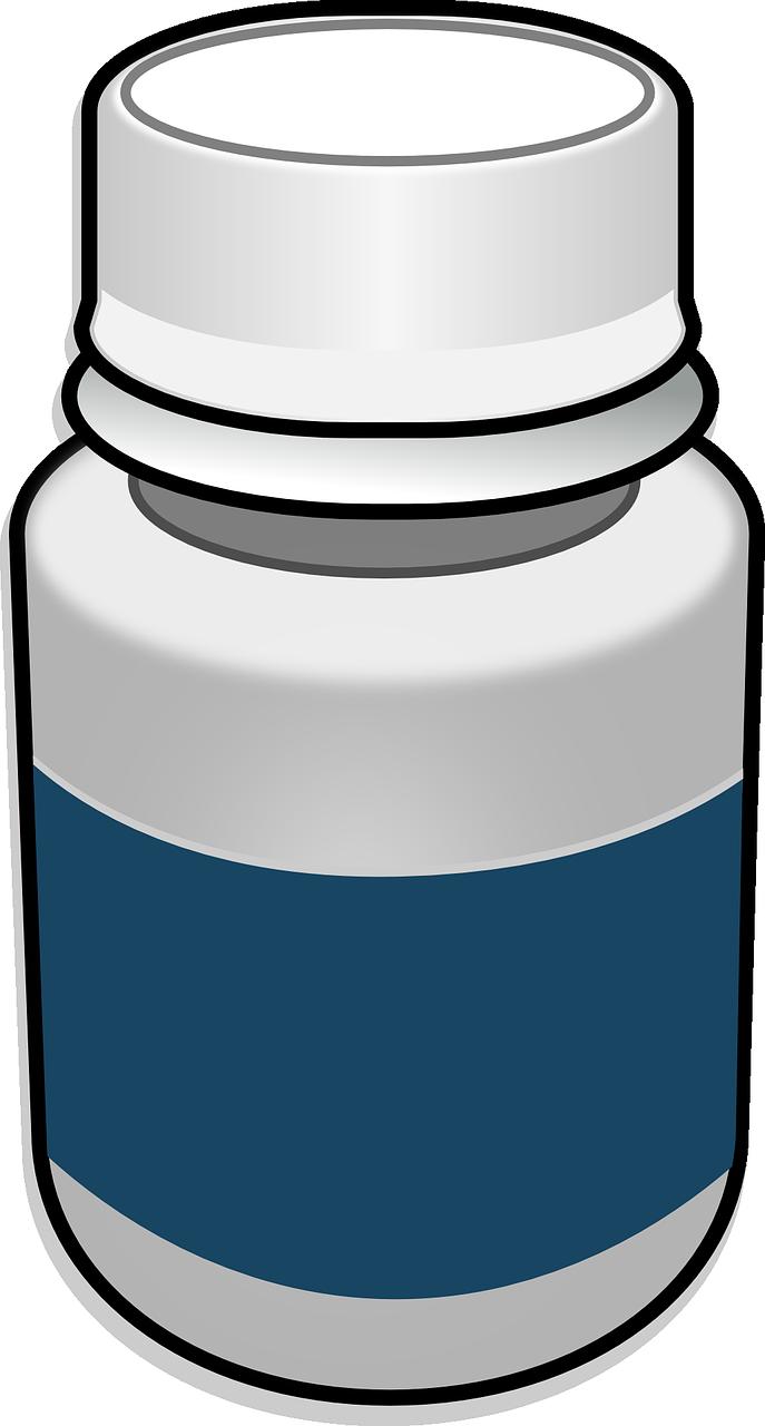 clipart of pill bottle
