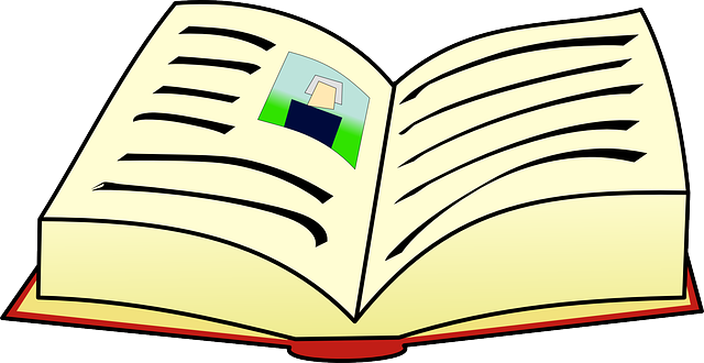 clipart of open book