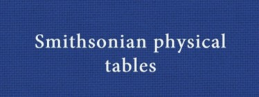 Smithsonian Physical Tables logo