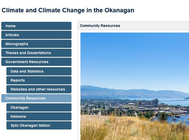 Climate and Climate Change in the Okanagan Research Guide