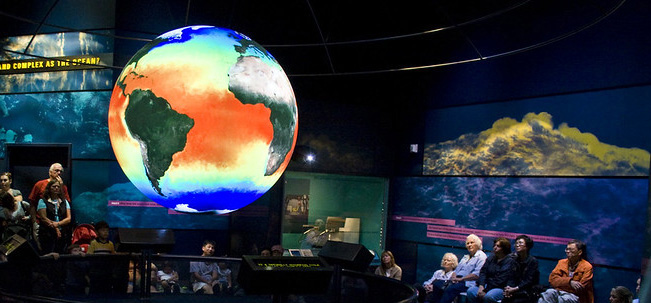 Click here to learn more about the Smithsonian's Science on a Sphere initiative