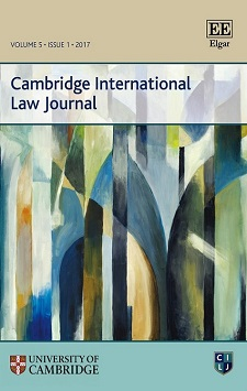 Thumbnail of Cambridge International Law Journal. Click to open the catalog record