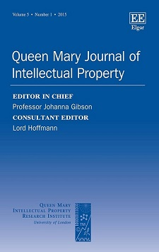 Thumbnail of Queen Mary Journal of Intellectual Property. Click to open the catalog record