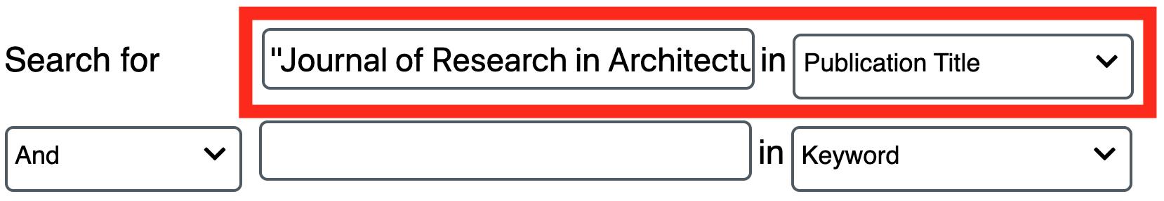 "Screenshot of database 'Advanced Search"" option"