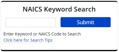 Picture of NAICS Code Keyword Search
