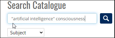 screenshot of a catalogue subject search with official subjects entred