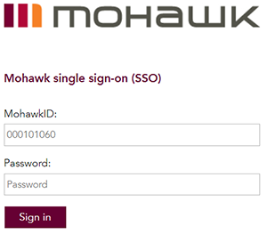 mohawk college single sign on