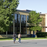 The exterior of Education Library on Thunder Bay campus