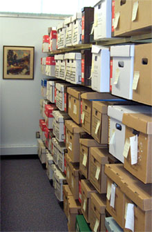 archives in boxes