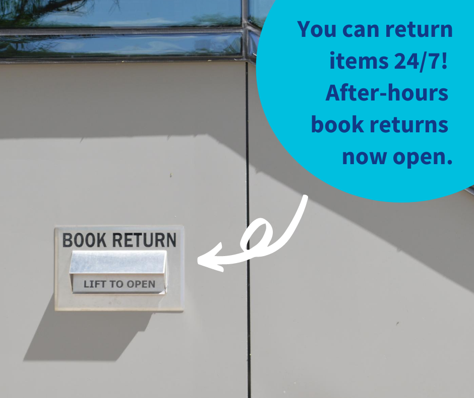 Return your books inside the branch or through a book chute
