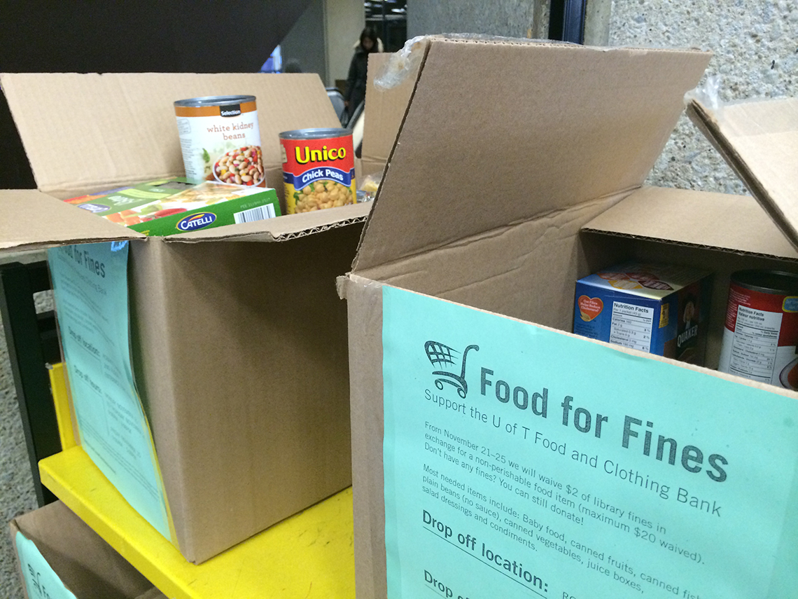 Food bank boxes