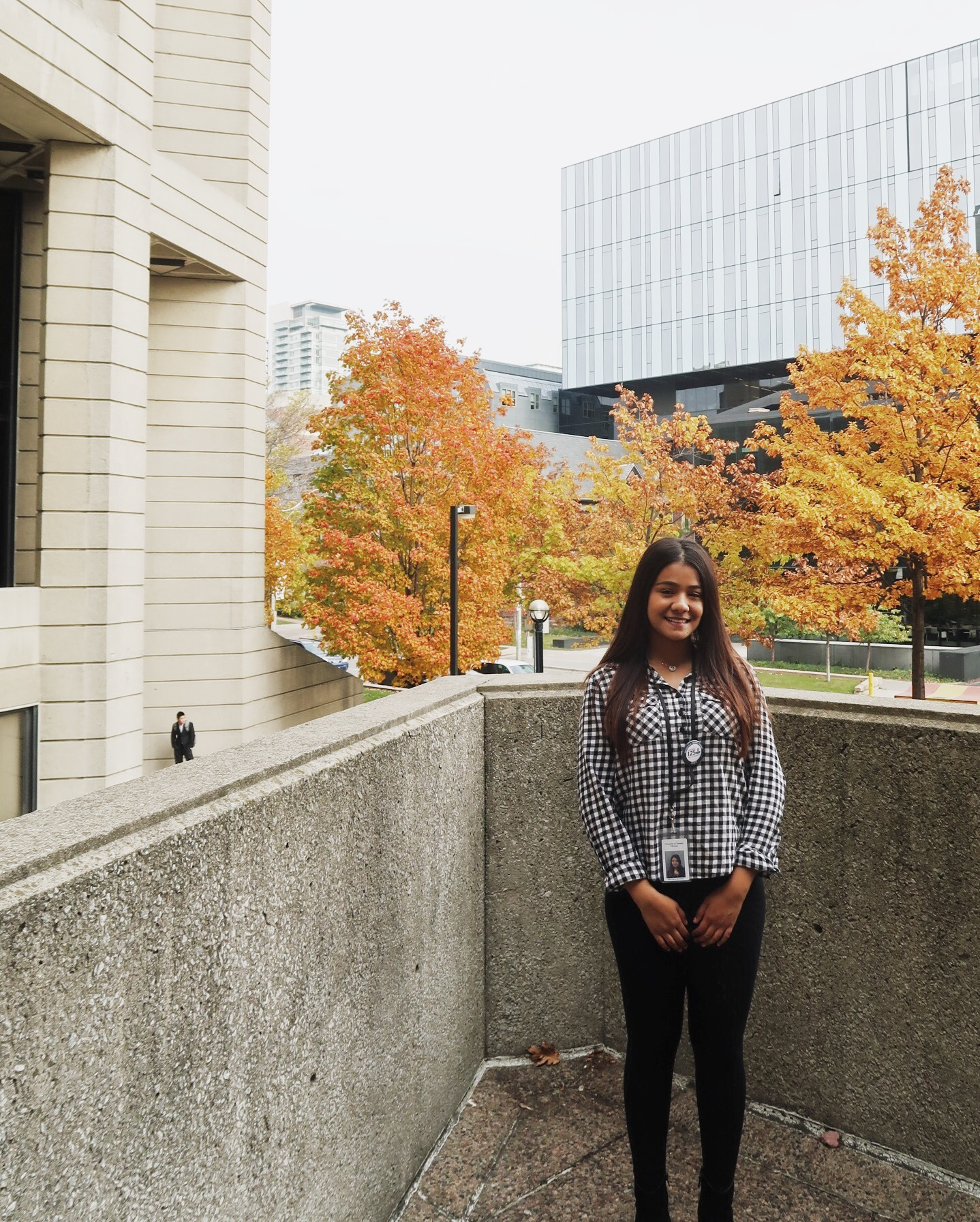 Priyanjli Sharma outside Robarts Library